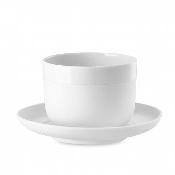 Пара кофейная «капелло», объем: 210 мл, материал: фарфор, цвет: белый, сер