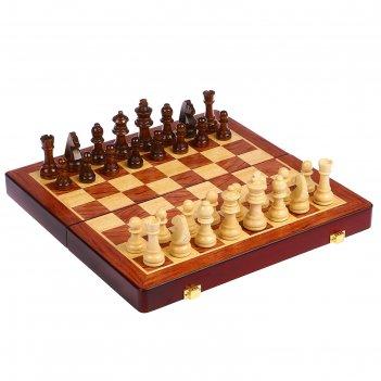 Шахматы магнитные деревянные, клетка 3 см, (фигуры от 3.5 см до 6.5 см), 3