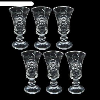 Набор рюмок кристалл 6 шт 5х10,5 см