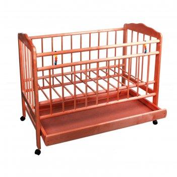 Кроватка детская женечка-2 цвет вишня