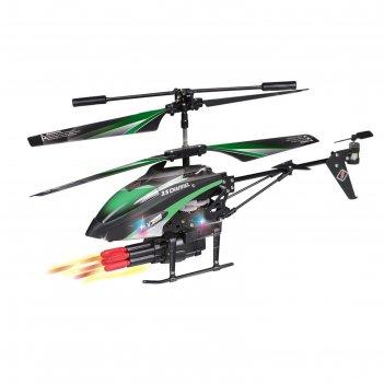 Вертолёт радиоуправляемый «кобра», стреляет ракетами