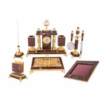 Письменный набор люкс из яшмы