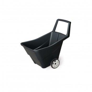Тачка садовая, двухколесная, 95 л, пластик, цвет черный, loadgo