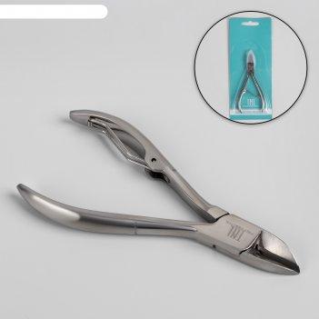 Кусачки педикюрные, 9,5 см, длина лезвия - 15 мм, цвет серебристый