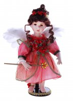 Кукла коллекционная ангелочек розочка