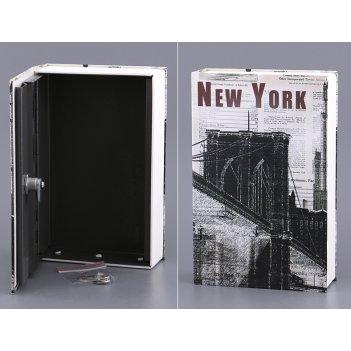 Стальной ящик для хранения с замком 24*16*5,5 см.(...