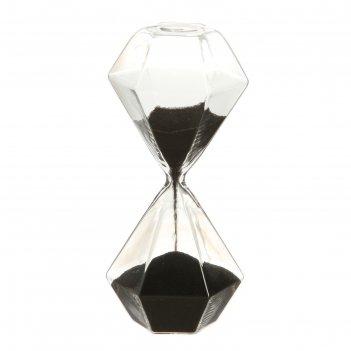 Часы песочные, классика ребристая 7*7*15 см, стекло, микс