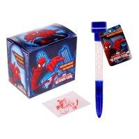 Мыльные пузыри ручка с печатью и светом человек паук, 10мл