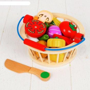 Игровой набор овощи в корзине