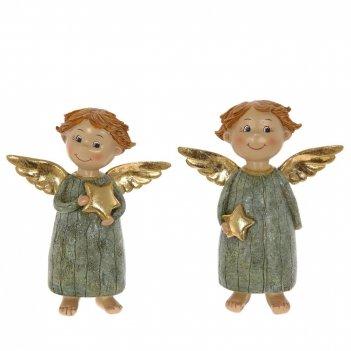 Фигурка декоративная ангелочек l12 w4 h14 см, 2 в.