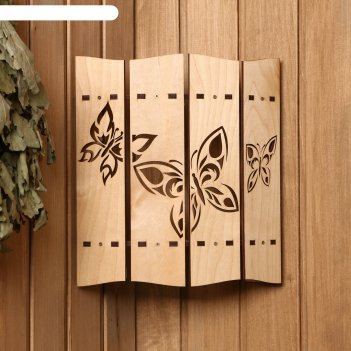 Абажур деревянный бабочки