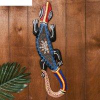 Панно настенное геккон с ракушками 50 см