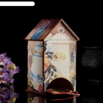 Чайный домик сервиз с уф-печатью, 8,5х9,5х16см