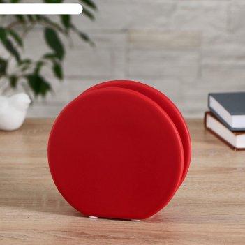 Ваза керамика настольная авиталь 5х15х14 см, красный
