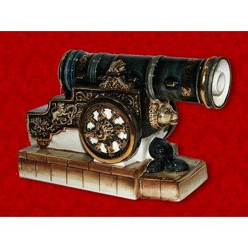 Штоф пушка (цветная с золотом) 0,5 литра шф-188с