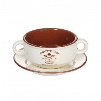 Суповая чашка на блюдце  0,3л кухня в стиле кантри