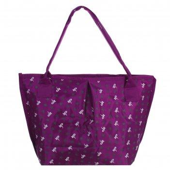 Сумка женская на молнии классика, 1 отдел, фиолетовая