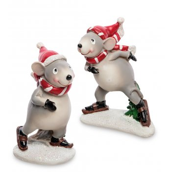 Mc-107 фигурка пара мышат на коньках