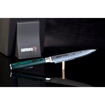 Нож кухонный стейковый samura damascus sd0031  125 мм