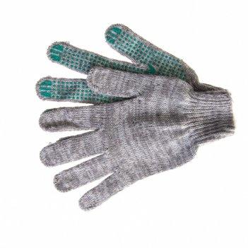 Перчатки трикотажные, пвх точка, меланж, 6 пар в упаковке, 7 класс россия