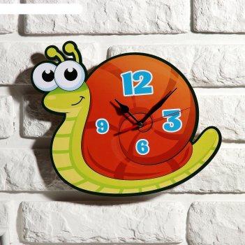 Часы настенные детские улитка, 24 см