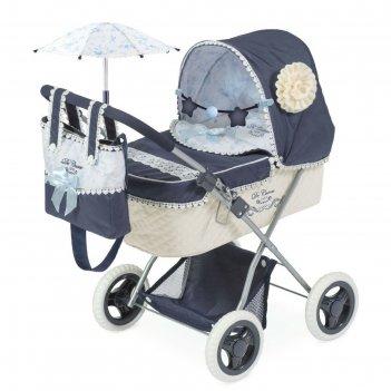 Коляска для куклы «романтик», с сумкой и зонтиком, 60см