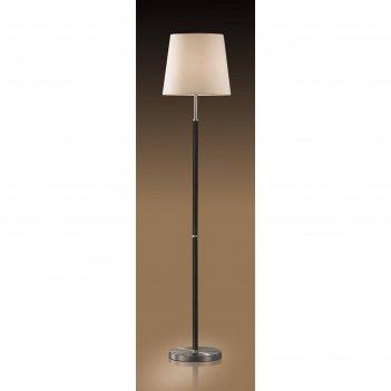 Торшер глен 1 лампа (e27 60w 220v) никель/абажур/рогожка