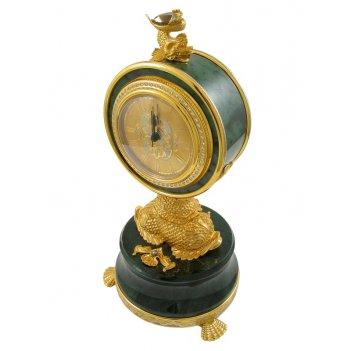 Часы каминные жемчужина нефрит