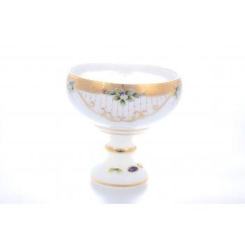 Фруктовница 26 см белая star crystal