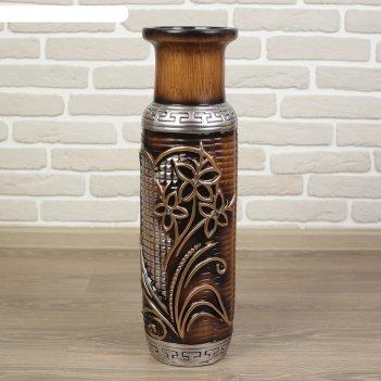 Ваза керамика напольная три цветка