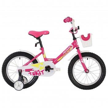 Велосипед 12 novatrack twist, 2020, цвет розовый