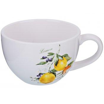 Бульонница итальянские лимоны 500 мл. 14,7*12,7*8,2 см. (кор=36шт.)