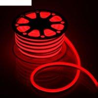 Гибкий неон 15 х 25 мм, 25 метров, led-120-smd2835, 220 v, красный