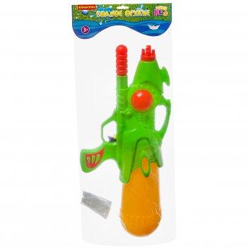Водный пистолет с помпой bondibon наше лето 2 вида зелёный и с