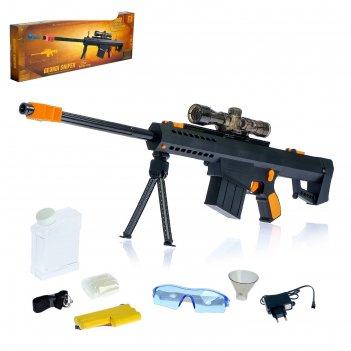 Винтовка чёрная кобра, стреляет гелевыми пулями, работает от аккумулятора