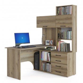 Компьютерный стол «кст-14 п», 1400 x 1235 x 1828 мм, правый, цвет дуб дела