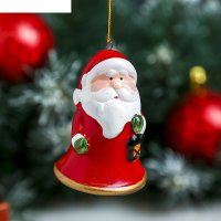 Сувенир керамика колокольчик дедушка/олень/снеговик микс, 6,2х4,7х4,2 см