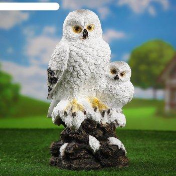 Садовая фигура совы полярные 19*20*38 см
