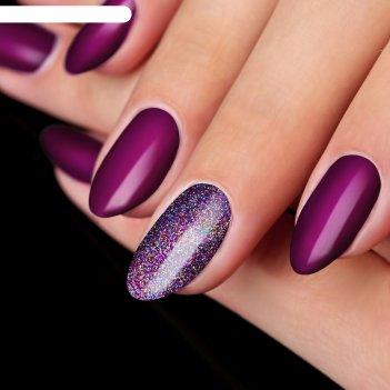 Жидкий глиттер для ногтей «радужная россыпь», с аппликатором, цвет лиловый