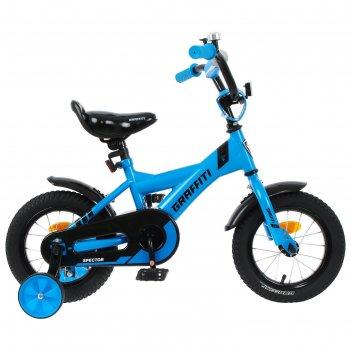 Велосипед 12 graffiti spector, цвет неоновый синий