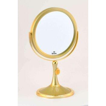 Зеркало b7 207 g5/g gold настольное 2-стор. 5-кр.ув.18 см. (