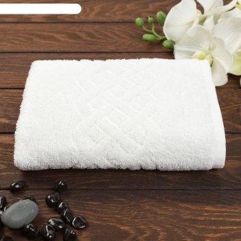 Полотенце махровое жаккард банное plait, размер 70х130 см, 350 г/м2, цвет