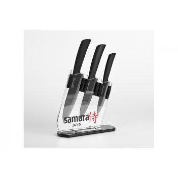 Набор керамических ножей samura в подставке ec 3 предмета