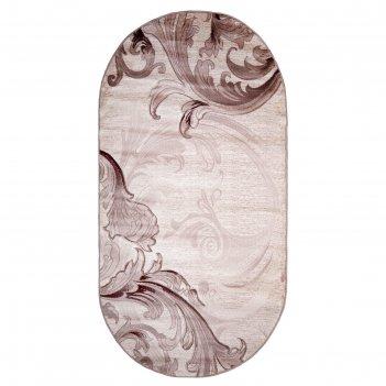 Ковёр beluga carving 9599 bone/rose 3.0*6.0 м, овал