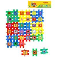 Набор-конструктор веселый счет, 36 деталей, собирается 6 кубиков