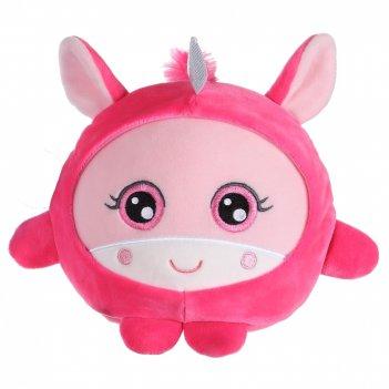 1toy squishimals плюш.розовый единорог 20 см,бирка,пакет
