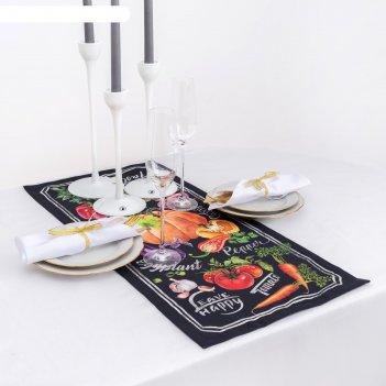 Дорожка на стол этель delicious fresh  30х70 см, 100% хл, саржа 190 гр/м2