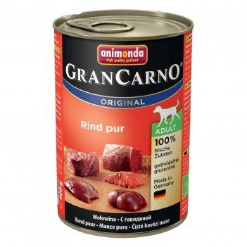 Влажный корм animonda gran carno original adult для собак, с говядиной, ж/