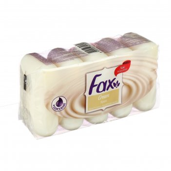 Мыло fax fruity cream/крем экопак 5 х 70 гр