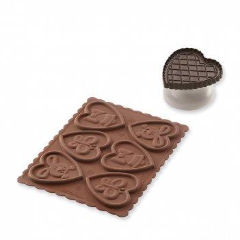 Форма для приготовления печенья lovely easter slim, материал: силикон, цве